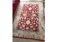 Large red and gold rug