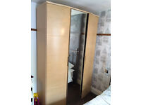 Wardrobe for sale - 3 doors with mirror from Dunelm