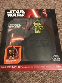 Brand new! Star Wars kylo ren bath set