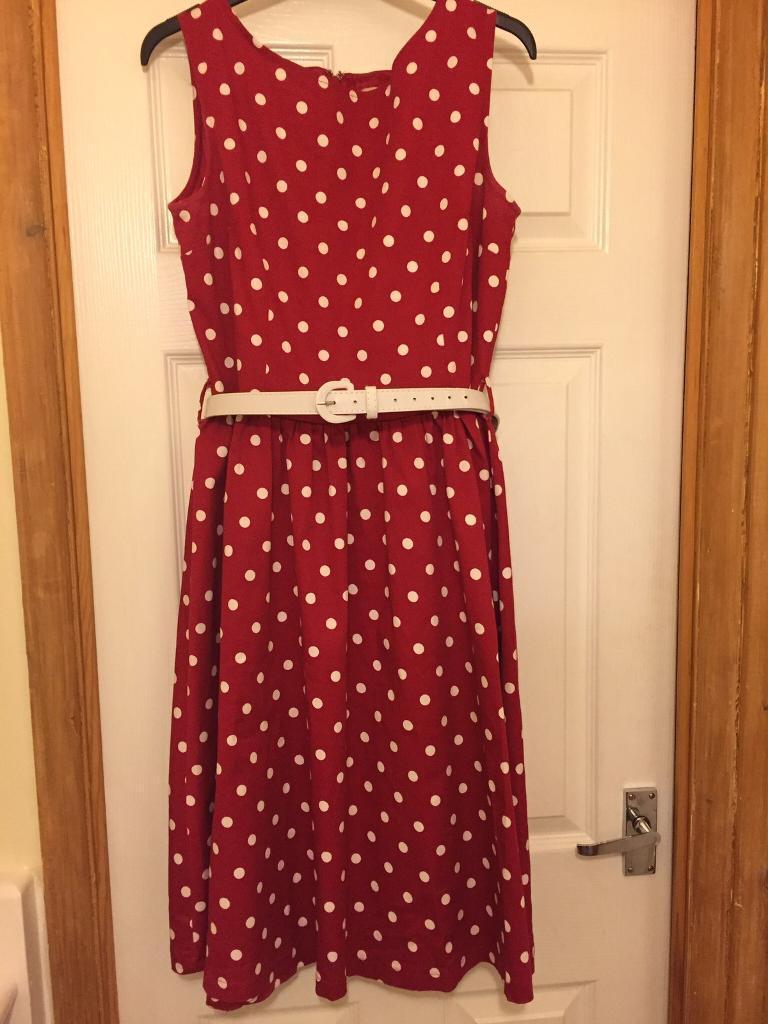 Lindy bob polka dot dress, size 14