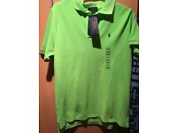 Lime green Genuine Ralph Lauren polo shirt. Brand new with tags age 14-16 years(L).