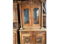 Antique mid of 19 century kitchen dresser/display cabinet
