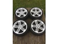 """VW rims Talladega Alloys 18"""" 5x112 wheels"""