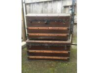 Two vintage Large chest trunks