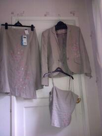 NEW - Next 3 piece suit - skirt, jacket & top - size 10