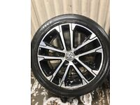 "18"" Volkswagen Golf polished face alloy wheels - 5x112 - will fit VW, Audi, Seat, Skoda"
