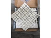 Travertine mosaic tiles