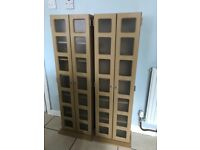 WOODEN MEDIA STORAGE UNIT IDEAL FOR CD'S AND DVD'S