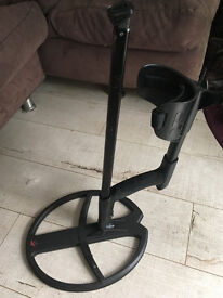 "XP Deus Metal Detector 13"" coil with telescopic shaft and stabiliser bracket"