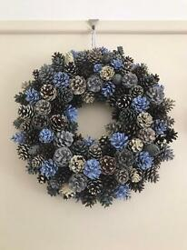Gorgeous rustic hand painted Scott pinecone wreath