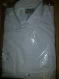 3 Long Sleeved White Shirts 14.5""