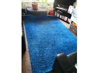 Large blue Ikea Hampden rug £40