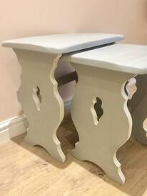 Shabby Chic Nest of Two Tables Refurbished
