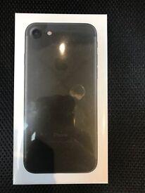 IPHONE 7 128GB MATT BLACK COLOUR UNLOCKED BRAND NEW SEALED FULL APPLE WARRANTY