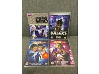 Rare 4 x DR WHO DOCTOR WHO DVD's some sealed The Daleks Planet of the spiders Sci Fi SDHC