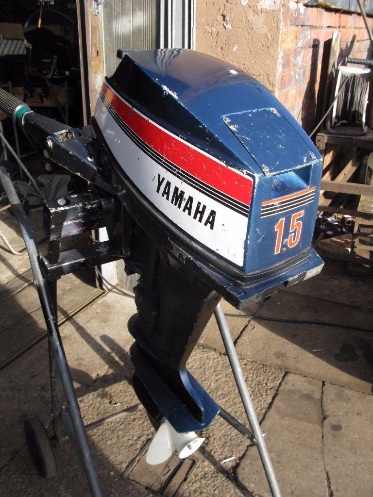 outboard yamaha 15 hp short shaft tiller control boat
