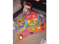 Playgro Puppy Playtime Tunnel Gym Play Mat 0-9m - Vtech Baby Walker - Walking Steps Mat