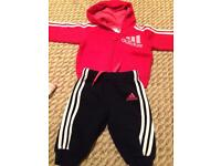 Infant girls Adidas tracksuit 0-3months
