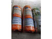 3 rolls of loft insulation (2x 100mm thickness, 1x 200mm)