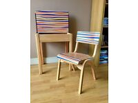 Upcycled Vintage School Desk & Chair - STUDIO CLEARANCE