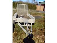 INDESPENSION 2.6t TWIN AXLE PLANT TRAILER WITH RAMP & 50mm BALL.