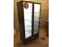 Infrico commercial double glass doors fridge, drinks bottel cooler