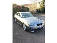 Bmw 520d m sport-2008-4dr saloon-black leather-low miles-part exchange welcome