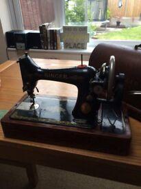 Singer treading sewing machine no 66