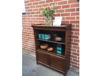 ANTIQUE bookcase display Modular solid OAK Cupboard