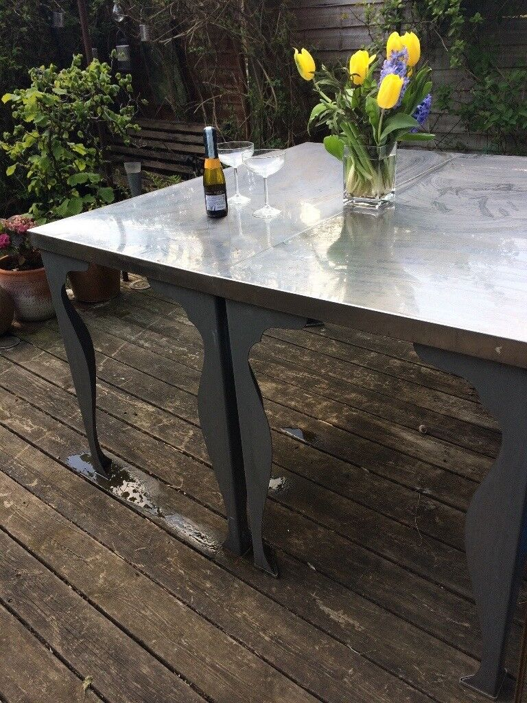 2 IKEA Stainless Steel Dining Tables