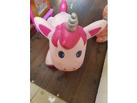 Bouncy unicorn toy