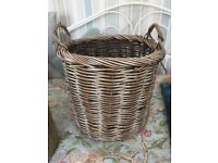 Laundry or Log baskets for sale. Premium quality. Very Good Condition. Change of decor.