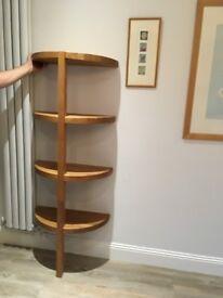 Oak Curved Shelves