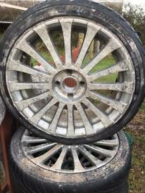 4x 4x108 Alloy wheels and tyres