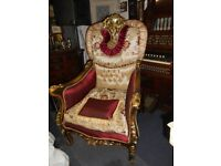 Pair of Large Ornate Chairs