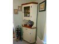 Corner Kitchen Display Cabinet (pine/soft cream)