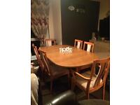 Very Heavy Solid Wood Table And 6 Chairs (2 Carvers) Extends to seat 8-10 ** DELIVERY AVAILABLE **