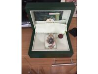 Rolex with all paperwork and box gold and steel brand new