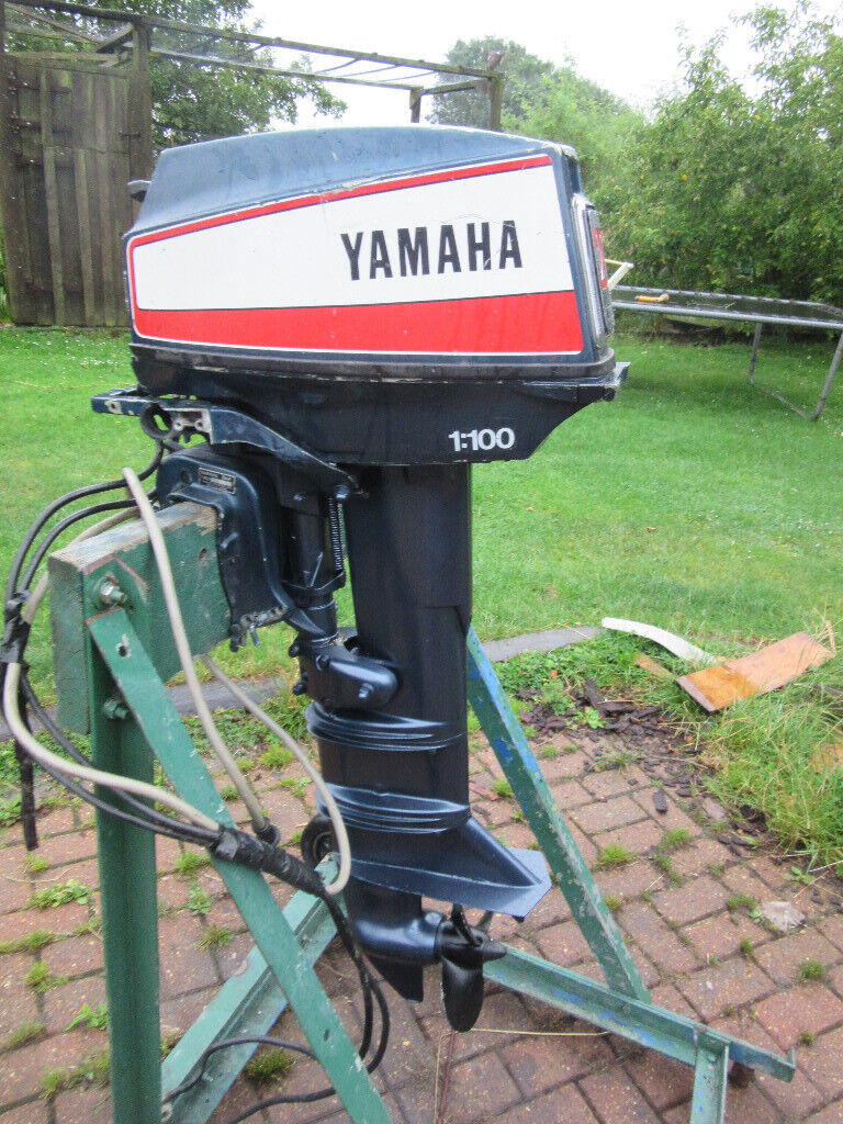 YAMAHA 20 HP OUTBOARD ENGINE ELECTRIC START LONG SHAFT 2 STROKE REMOTE  CONTROLS MARINER PETROL TANK | in Norwich, Norfolk | Gumtree