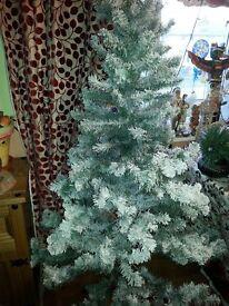 SNOWY TREE:Asda 6ft (180cm) Christmas Tree.