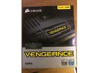 Corsair CMZ16GX3M2A1600C9 Vengeance 16GB (2x8GB) DDR3 1600 Mhz Performance Desktop Memory Kit Black