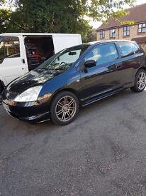 Honda Civic Sport 1.6 V TEC. Black. Great Reliable Car. 2003.