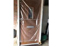 Brand new front door in casein