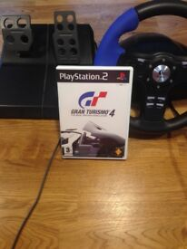 Steering wheel and racing game for ps2
