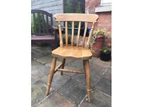 6 solid oak chairs