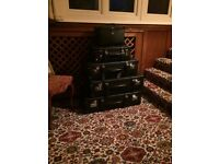 Set of 5 XK8 Embossed Suitcases