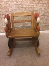 Solid hardwood Childs rocking chair