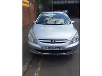 Peugeot 307 silver color five door 1.3 petrol 1 lady owner 2 keys 55,000 milieage