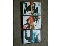THE TRANSPORTER DVDS 1, 2 & 3