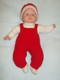 14 inch soft body Doll with Christmas Outfit